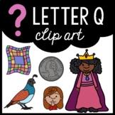Alphabet Clip Art: Letter Q