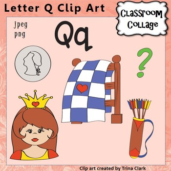 words with the letter q alphabet clip letter q items start w q color 10925