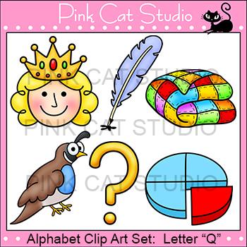 beginning sounds clip art letter q alphabet clip art by pink cat