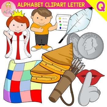 Alphabet Clip Art Letter Q-Set