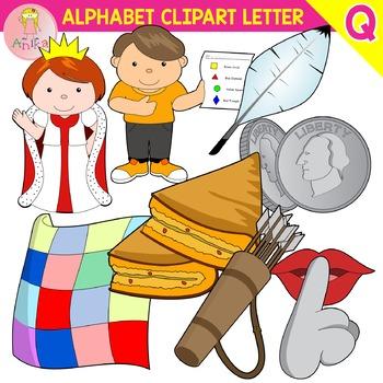 Alphabet Clip Art Letter Q-Set