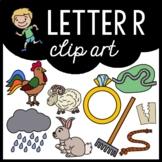 Alphabet Clip Art: Letter R