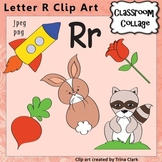 Alphabet Clip Art Letter R - Items start w R - Color - pers/comm use