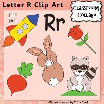 Alphabet Clip Art Letter R - Items start w R - Color - per
