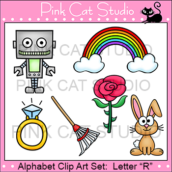 Alphabet Clip Art: Letter R - Phonics Clipart Set - Personal or Commercial Use