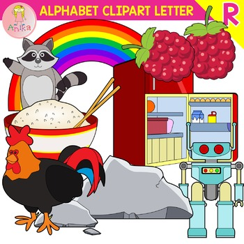 Alphabet Clip Art Letter R-Set