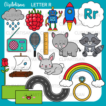 Alphabet Clip Art: Letter R Words