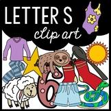 Alphabet Clip Art: Letter S