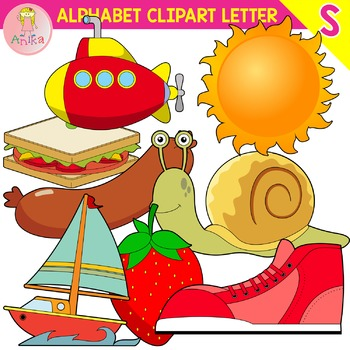 Alphabet Clip Art Letter S-Set