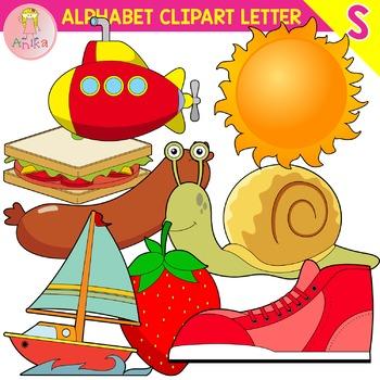 Alphabet Clip Art Letter S-Set