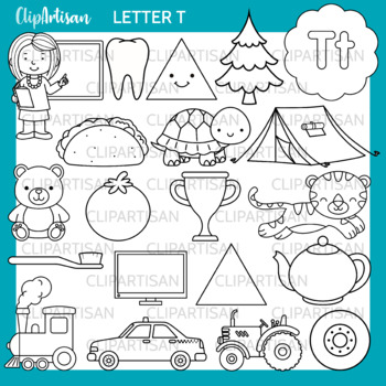 Alphabet Clip Art: Letter T Words
