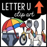 Alphabet Clip Art: Letter U
