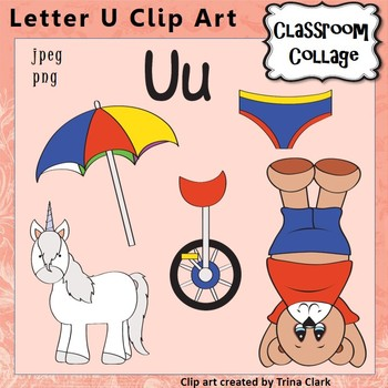 alphabet clip art letter u items start with u color pers comm use