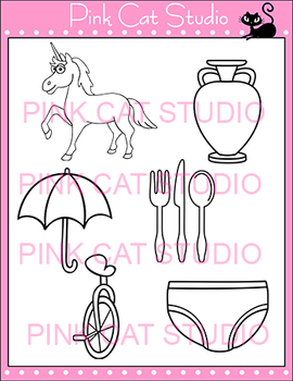 Alphabet Clip Art: Letter U - Phonics Clipart Set - Personal or Commercial Use