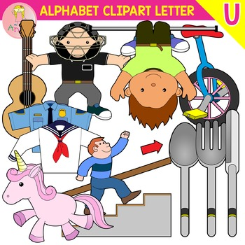Alphabet Clip Art Letter U-Set