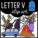 Alphabet Clip Art: Letter V