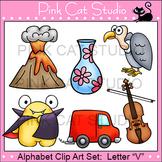 Alphabet Clip Art: Letter V - Phonics Clipart Set - Personal or Commercial Use