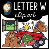 Alphabet Clip Art: Letter W