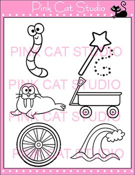 Alphabet Clip Art: Letter W - Phonics Clipart Set - Personal or Commercial Use