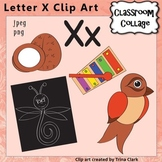 Alphabet Clip Art Letter X - Items start w X - Color personal/commercial use
