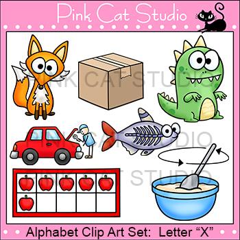 Alphabet Clip Art: Letter X - Phonics Clipart Set - Personal or Commercial Use