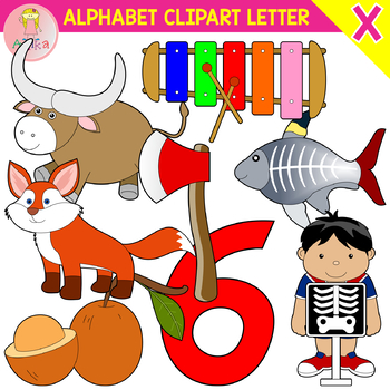 Alphabet Clip Art Letter X-Set