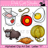 Alphabet Clip Art: Letter Y - Phonics Clipart Set - Personal or Commercial Use