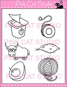 Alphabet Clip Art: Letter Y - Phonics Clipart Set - Personal or Commercial Use