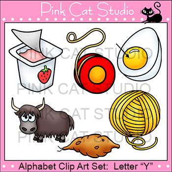 Alphabet Clip Art: Letter Y - Phonics Clipart Set - Person