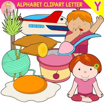 Alphabet Clip Art Letter Y-Set