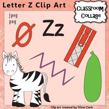 Alphabet Clip Art Letter Z Items start w Z - Color - pers/comm