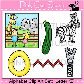 Alphabet Clip Art: Letter Z - Phonics Clipart Set - Personal or Commercial Use