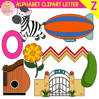 Alphabet Clip Art Letter Z-Set