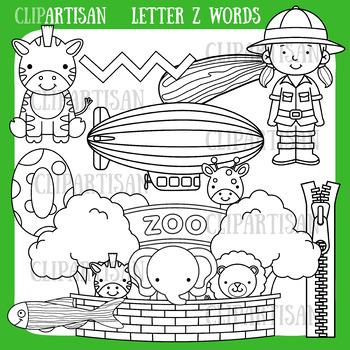 Alphabet Clip Art: Letter Z Words