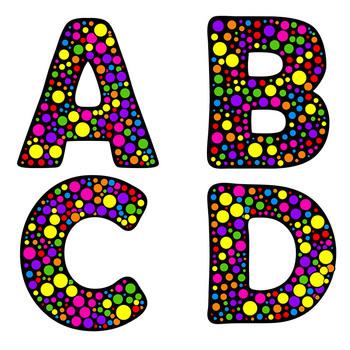 Alphabet Clip Art Letters: Circle Fun! | Bulletin Board Letters