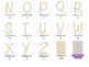 Alphabet Clip Art Letters : Confetti Pattern ( for personal / commercial use)
