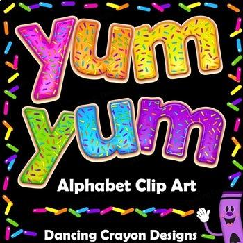 Alphabet Clip Art Letters - Donut Design   Bulletin Board Letters