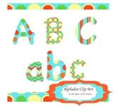 Alphabet Clip Art Letters : Retro Color Palette ( for pers