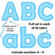 Alphabet Clip Art Letters - Stitched Design | Bulletin Board Letters