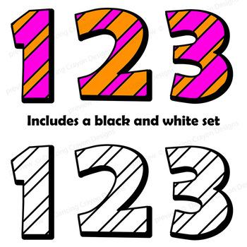 Alphabet Clip Art Letters: Stripes   Bulletin Board Letters