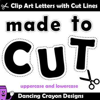 Alphabet Clip Art for Teachers | Alphabet Cutting Lines