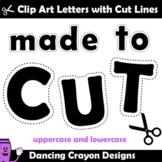 Alphabet Clip Art for Teachers | Alphabet Cutting Lines