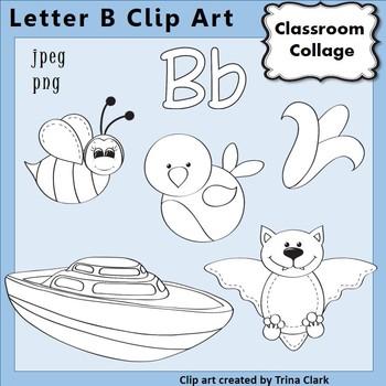 Alphabet Clip Art Letter B Line Drawings B&W pers/comm