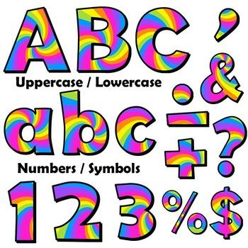 Alphabet Letters Clip Art - Lollipop Design