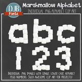 Alphabet Clip Art: Marshmallow Alphabet Letters