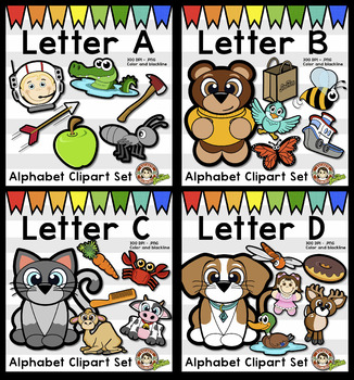 Alphabet Clip Art Mega Bundle {Squishies Clip Art}