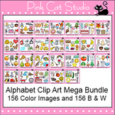 Beginning Sounds Alphabet Clip Art Mega Value Pack - Phonics Clipart Set