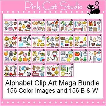 Beginning Sounds Alphabet Clip Art Mega Value Pack - Phonics Clipart Set