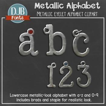 Alphabet Clip Art: Metallic Alphabet Letters