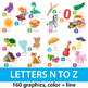 Alphabet Clipart N to Z